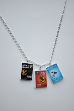 Hunger Games Book Series Necklace by SpearCraft on Etsy, $10.00
