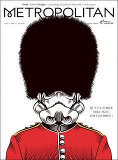 New cover Metropolitan magazine Illustrated by fab Yann Legendre Art Director Adriano Cattini Magazine Front Cover, Magazine Covers, Magazine Layout Design, Editorial Design, Cover Design, Illustrators, Graphic Design, Books, Star Wars