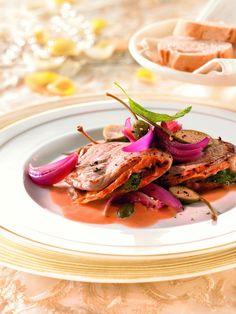 Kalbsfilet-Taschen mit Salbei in Weißweinsauce – Leichte und feine Sommerküche