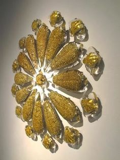 Available for sale from UrbanGlass, Joanna Manousis, The Dominant Sophia (2014), Crystal, 22ct gold mirror, and stainless steel, 40 × 40 × 3 1/2 in