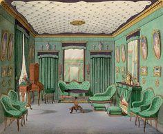 Lithographie d'intérieur sous Napoleon III