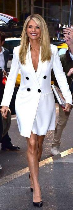 Christie Brinkley: Dress – Adam Lippes  Shoes – Christian Louboutin