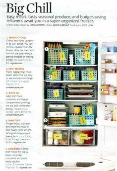 Freezer Organizing ideas