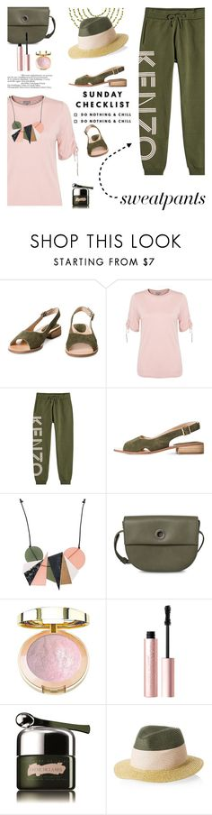 """""""Comfort is Key: Sweatpants"""" by lacas ❤ liked on Polyvore featuring Kenzo, Milani, Too Faced Cosmetics, La Mer, sweatpants and oliverbonas"""