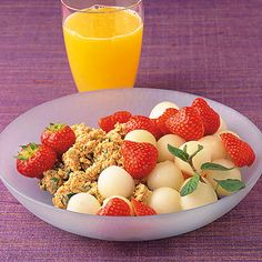 Melonen-Erdbeer-Müsli
