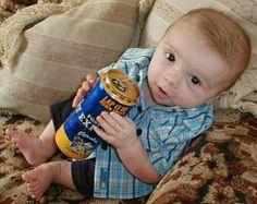 Drinking Beer Funny Babies Kids