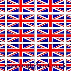 Free to download and print Union Jack flags Jubilee craft backing paper for card making, scrap booking, cup cake flag toppers and paper craft projects. Jack Flag, Things To Do At Home, Paper Crafts, Diy Crafts, Union Jack, Party Stuff, Bobs, Gadget, Flags