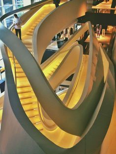 Color, form, and function: Massimiliano Fuksas and his Armani 5th Avenue New York stairs design. #interiordesign