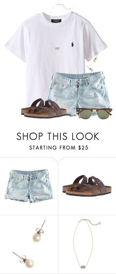 """~priceless~"" by flroasburn on Polyvore featuring H&M, Birkenstock, J.Crew, Kendra Scott and Ray-Ban"