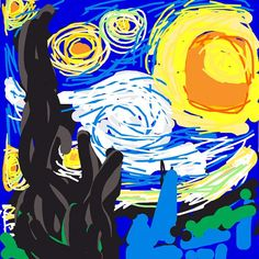 """#Drawsomething in Museums: """"Art"""": The Starry Night, Vincent Van Gogh. 1889 at @MoMA #MoMA / @Zynga #Museums #mobile #ArtsTech#MuseGames #g4c12 #innovation #Museum #Fun #Education #MuseEd #AAM #AMM2012 #GenX Games For Change, Draw Something, Vincent Van Gogh, Art Drawings, Disney Characters, Fictional Characters, Objects, Disney Princess"""