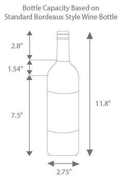 Dimensions of a Standard Bordeaux Bottle Wine Bottle Labels, Wine Bottle Holders, Beer Labels, Wine Bottles, Wine Glass, Wire Wine Rack, Built In Wine Cooler, Wine Rack Plans, Bordeaux Wine