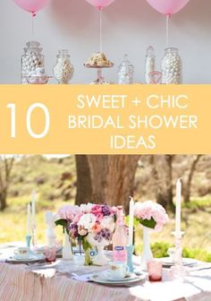 When it comes to bridal showers, sometimes less is more. A few snacks, some drinks, presents for the bride-to-be, maybe a few blooms, and you're all set! Everything else is an added bonus! If you are planning a bridal shower this year, you will want to read on as eBay share ten ideas for sweet and chic bridal shower success.