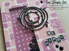 Simply Sketched Saturday Challenge #11 – Swirly Scribbles See-Through Window Shaker Card