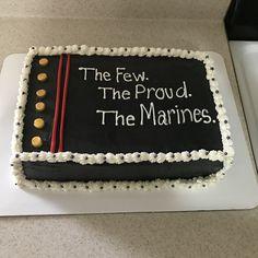 Marine Corps Cake, Marine Corps Birthday, Military Cake, Military Party, Marine Graduation, Graduation Cake, Dad Birthday Cakes, 50th Birthday Party, Marine Usa