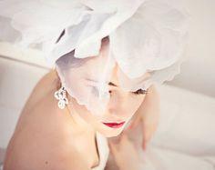 Bridal Flower Head Piece, Wedding Hair Accessory,  Bridal Hair Flower, Fascinator - ANTOINETTE