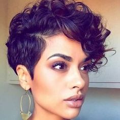 Chic Pixie Cut Curly Hair