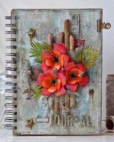 Travel Journal by Emma Williams - created with products from Tim Holtz and Sizzix