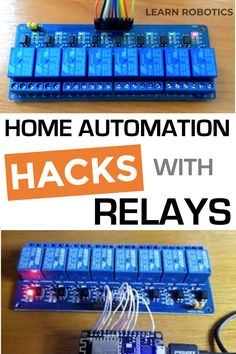 Add automation to your home with these 3 Relay Hacks for Raspberry Pi and Arduino! 3 Projects using Relays & Arduino for Home Automation - Learn Robotics Arduino Home Automation, Home Automation Project, Home Automation System, Smart Home Automation, Electronics Projects, Electrical Projects, Cool Arduino Projects, Arduino Wifi, Arduino Programming
