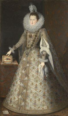 Juan Pantoja de la Cruz Portrait of Margaret of Austria, Queen of Spain - The Largest Art reproductions Center In Our website. Low Wholesale Prices Great Pricing Quality Hand paintings for saleJuan Pantoja de la Cruz