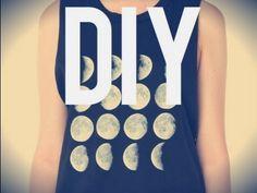 DIY Brandy Melville Moon Phase Tank ☾  de GlamourDramax3 •