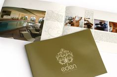 Brochures that Use White Space Well 11 Spa Design, Menu Design, Flyer Design, Book Design, Spa Brochure, Brochure Design, Spa Menu, Menu Book, Spa Services