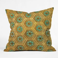 Happee Monkee Honeycomb Throw Pillow