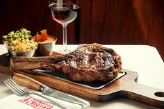 Bife de chorizo at La Cabrera Steakhouse, Buenos Aires, named a top 10 steakhouse in the world.