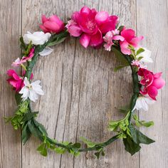 The Pink Flower Crown