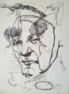 Reflejos 2010 - Dibujo, 21 x 29 cm by Ariel De La Vega