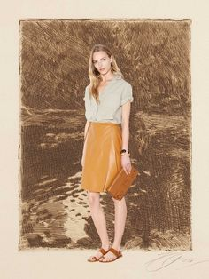 Tomas Maier on paper by Miss Moss
