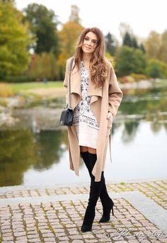 Fall outfit  Tunic - Odd Molly Boots - Zara Bag - Chanel Coat - Zara