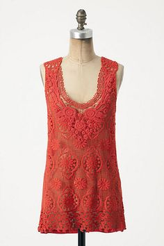 Coral Anthropologie top