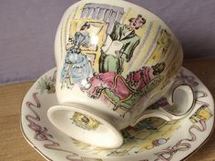 vintage English tea cup and saucer set Queen Anne by ShoponSherman, $39.00