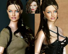 "DOLLS  ANGELINA JOLIE E' LARA CROFT IN ""TOMB RAIDER"""