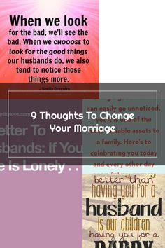 9 thoughts to change your marriage. Happy Wife Quotes, You Changed, Marriage, Good Things, Thoughts, Valentines Day Weddings, Weddings, Mariage, Wedding