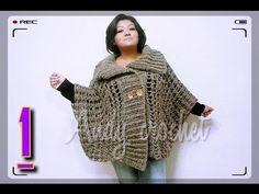 Chal triangular (punto piña) crochet - YouTube