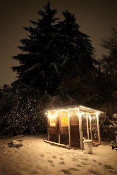 Chicken Coop at night