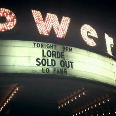 Lorde // sold out
