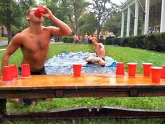 Slip and slide and beer pong -- even though I don't play beer pong. I'd sit and watch this! LOL Slip and slide and beer pong -- even though I don't play beer pong. I'd sit and watch this! Way Of Life, The Life, Summer Fun, Summer Time, Summer Parties, Summer Ideas, Spring Break, Woodstock, Cheers