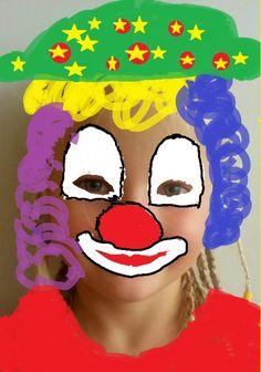 KLAUNI - přeměnit sebe samého v klauna s jeho charakteristickými znaky  - počítačová grafika (popř. kresba fixy)