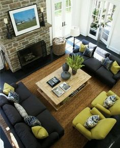 Living room idea? Not DIY but I want to remember this for the downstairs!