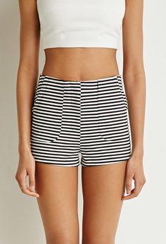 Stretch Knit Stripe Shorts
