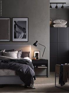 The Cozy Bedroom (IKEA Sweden – Life at Home) – Bedroom Inspirations Bedroom Setup, Gray Bedroom, Bedroom Inspo, Bedroom Colors, Home Decor Bedroom, Bedroom Furniture, Bedroom Inspiration, Bedroom Ideas, Master Bedroom