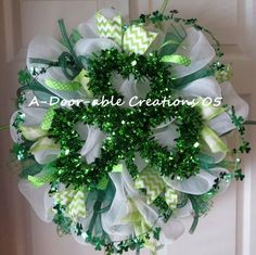 St. Patrick's Day Deco Mesh by ADoorableCreations05 on Etsy