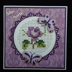 Mini Cross Stitch, Cross Stitch Cards, Beaded Cross Stitch, Counted Cross Stitch Patterns, Cross Stitch Designs, Embroidery Hearts, Paper Embroidery, Cross Stitch Embroidery, Stitching On Paper
