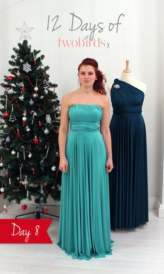 Strapless bridesmaids' dresses are here to stay and did you know that your twobirds multiway dress can be tied in multiple strapless styles? Here is our 12 Days of twobirds style of the day! To be in with a chance to win your very own Cabernet Red or Kelly Green ballgown in time for Christmas simply re-pin this and tell us what your partner's wedding outfit will be (or was!) for your dream wedding in the description. For the back view and the competition terms & conditions click the pic…