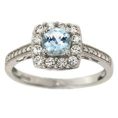 Sears Valentine's Day Jewelry Sale: Up to 75% off + extra 15% off at Sears.com  Aquamarine Cushion and White Sapphire Accent Ring in Sterling Silver  Reg Price: $149.99  Sale: $59.99  After code $50.99. With free in store pick up!