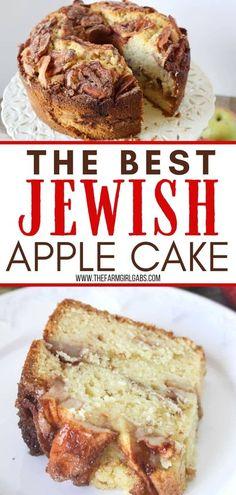 Apple Bundt Cake Recipes, Moist Apple Cake, Easy Apple Cake, Apple Desserts, Easy Cake Recipes, Baking Recipes, Jewish Apple Cake Recipe Bundt, Cake Recipe With Apples, Honey Cake Recipe Jewish