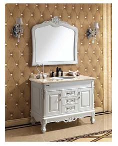 """43.25"""" Single Vanity Set with Mirror"""