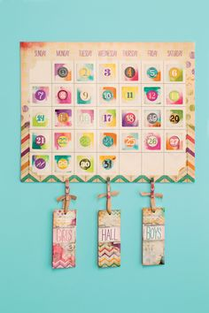 We love stylish and practical classroom necessities like this calendar/hall pass combo! christians, retro chic, education
